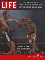 Life Magazine, April 7, 1958 - Sugar Ray's fifth title, boxing