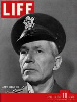 Life Magazine, April 13, 1942 - Army supply chief. U.S. Military cover