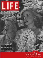 Life Magazine, April 14, 1947 - Pretty girls and flowering dogwood