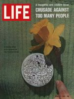 Life Magazine, April 17, 1970 - Zero population growth campaign button