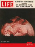 Life Magazine, April 19, 1954 - H-bomb test