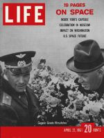 Life Magazine, April 21, 1961 - Yuri Gagarin and Nikita Krushchev