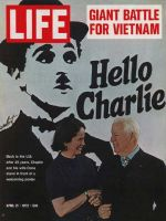 Life Magazine, April 21, 1972 - Charlie Chaplin with wife Oona