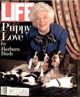 Life Magazine, May 1, 1989 - Barbara Bush With Dogs