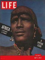 Life Magazine, May 4, 1953 - Masai warrior, Africa
