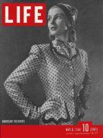 Life Magazine, May 8, 1944 - Hattie Carnegie suit in fashion