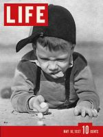 Life Magazine, May 10, 1937 - Playing Marbles
