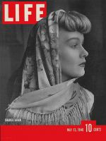 Life Magazine, May 13, 1940 - Silk shawls in fashion