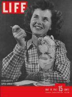 Life Magazine, May 19, 1947 - Woman eating Ice cream sundae