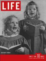Life Magazine, June 3, 1946 - Children in church