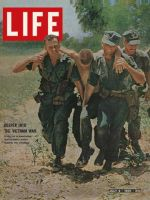 Life Magazine, July 2, 1965 - Wounded marine evacuated in Vietnam