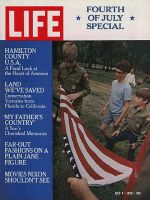 Life Magazine, July 4, 1970 - Iowa boy scouts with flag