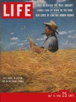 Life Magazine, July 14, 1958 - Farmer in field