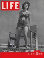 Life Magazine, July 29, 1940 - Girl lifeguard