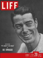 Life Magazine, August 1, 1949 - Joe DiMaggio