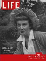Life Magazine, August 8, 1949 - Straw hats in fashion