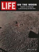 Life Magazine, August 8, 1969 - Flag and footsteps on the moon