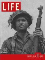 Life Magazine, August 14, 1944 - Airborne infantry officer in Normandy