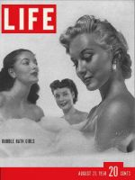 Life Magazine, August 21, 1950 - Ladies with bubbles, Peep Show