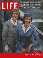 Life Magazine, August 25, 1958 - Airline stewardesses