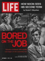 Life Magazine, September 1, 1972 - Autoworker
