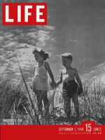 Life Magazine, September 2, 1946 - Children holding hands on beach