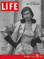 Life Magazine, September 11, 1950 - American elegance, fashion