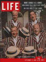Life Magazine, September 15, 1958 - Quartet of Crosbys