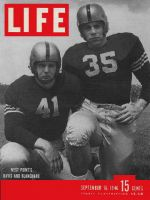 Life Magazine, September 16, 1946 - Davis and Blanchard, football