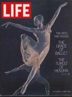 Life Magazine, October 3, 1969 - Ballet dancer