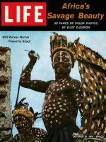 Life Magazine, October 13, 1961 - African warrior