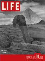 Life Magazine, October 19, 1942 - Sandbagged Sphinx