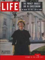 Life Magazine, October 20, 1958 - Mamie Eisenhower