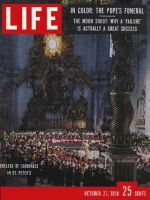 Life Magazine, October 27, 1958 - Funeral of Pope Pius XII