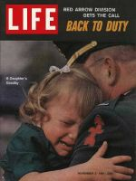 Life Magazine, November 3, 1961 - National Guard with crying daughter