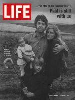 Life Magazine, November 7, 1969 - Paul McCartney and family