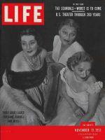 Life Magazine, November 19, 1951 - Lynn Fontanne, Katherine Cornell and Helen Hayes