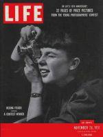 Life Magazine, November 26, 1951 - LIFE photo contest, girl with camera