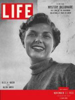 Life Magazine, November 27, 1950 - UCLA Homecoming, woman
