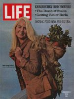Life Magazine, December 11, 1970 - Model with health food