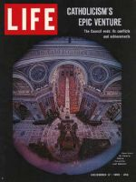 Life Magazine, December 17, 1965 - View of Vatican Council from St. Peter's Dome