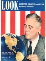 Look Magazine, January 14, 1941 - Franklin Roosevelt inspecting Europe on the globe