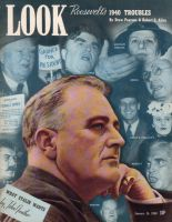 Look Magazine, January 16, 1940 - Montage of political faces