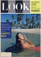 Look Magazine, January 17, 1961 - Lovely lady near a tropical beach, Mrs. Dana Sosa Kennedy