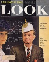 Look Magazine, January 21, 1958 - Jack Paar in a helmet and Dody Goodman