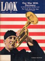 Look Magazine, January 27,1942 - Sailor playing bugle
