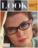 Look Magazine, February 12, 1963 - Princess Grace wearing eyeglasses
