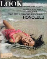 Look Magazine, February 23, 1965 - Lovely lady lounging in surf, Hawaiian dancer Gloria Becht