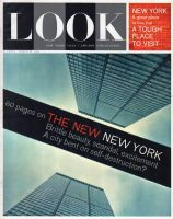 Look Magazine, March 26, 1963 - A neat angle looking skyward between two New York skyscrapers