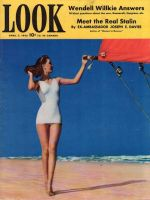 Look Magazine, April 7,1942 - Model Evelyn Frey with sailboat